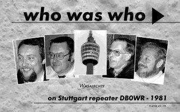 on Stuttgart repeater DB0WR - KLOTH.NET