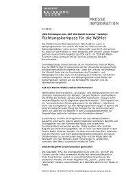 Richtungskompass für die Wähler - Karl-Rudolf Korte