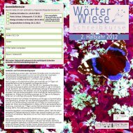Wörter Wiese - Kulturladen Nord