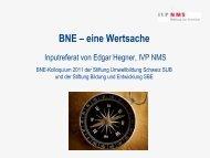 BNE – eine Wertsache - Stiftung Bildung und Entwicklung
