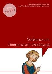 Vademecum - Ruprecht-Karls-Universität Heidelberg