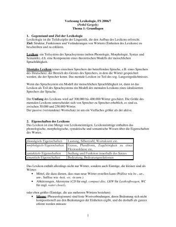 phonologische Eigenschaften Lautung, Silbenzahl, Wortakzent etc ...
