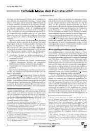 Schrieb Mose den Pentateuch? 1. Teil: Das ... - Wort und Wissen