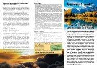 Genesis 1 und 2: - Wort und Wissen