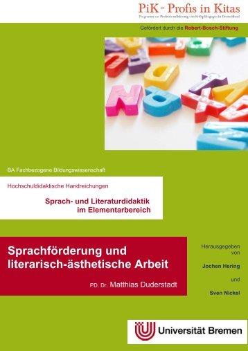 Sprachförderung und literarisch-ästhetische Arbeit