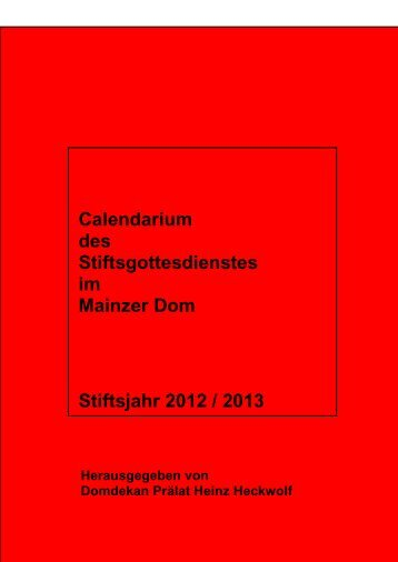 Calendarium 2012-2013 - beim Bistum Mainz