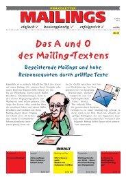 Das A und O des Mailing-Textens - Textakademie GmbH