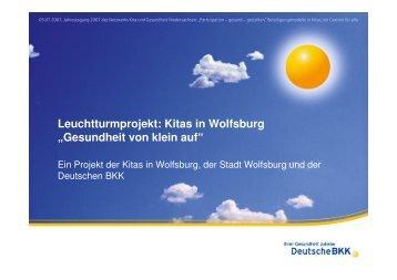 """Leuchtturmprojekt: Kitas in Wolfsburg """"Gesundheit von klein auf ..."""