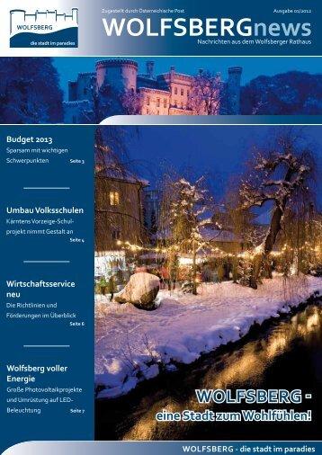 Stadtzeitung erste Ausgabe - Stadt Wolfsberg