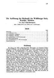 Die Auflösung der Mechanik der Wolfsberger Serie, Koralpe, Kärnten