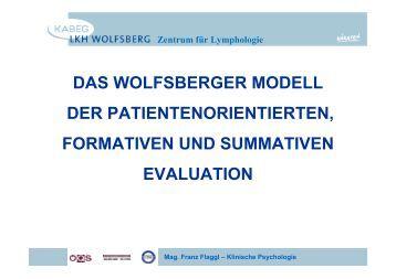 DAS WOLFSBERGER MODELL DER ... - LKH Wolfsberg