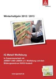 Bildungsprogramm 2012/2013 - IG Metall Wolfsburg