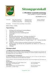 Protokoll vom 20.06.2011 - St. Lorenzen bei Knittelfeld