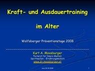 Kraft- und Ausdauertraining im Alter - Dr. Kurt A. Moosburger