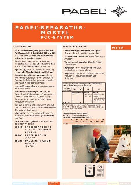 Pagel Reparatur Mortel Pagel Spezial Beton Gmbh Co Kg