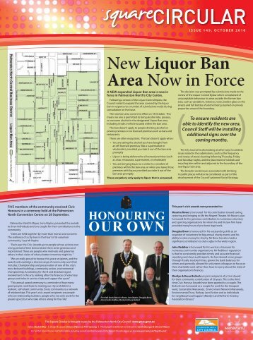 New Liquor Ban Area Now in Force - Palmerston North City Council