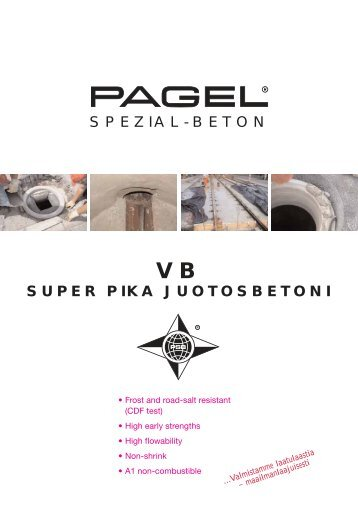 SUPER PIKA JUOTOSBETONI SPEZIAL-BETON - Pagel Spezial ...