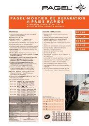 mortier de reparation a prise rapide - Pagel Spezial-Beton GmbH ...