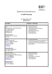 Begleitende Fachausstellung zum 6. GUEP Planertag 16. November ...