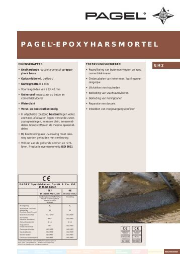 pagel®-epoxyharsmortel - Pagel Spezial-Beton GmbH & Co. KG