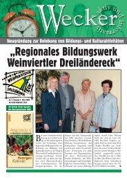 """""""Regionales Bildungswerk Weinviertler Dreiländereck"""" - Reflex"""