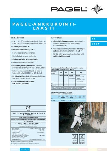 pagel®-ankkurointi- laasti - Pagel Spezial-Beton GmbH & Co. KG