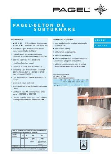 pagel®-beton de subturnare - Pagel Spezial-Beton GmbH & Co. KG