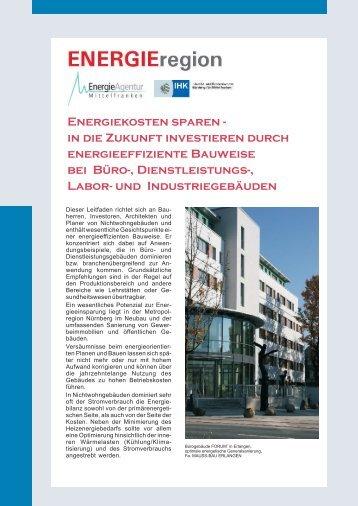 Energiekosten sparen - EnergieRegion Nürnberg e.V.