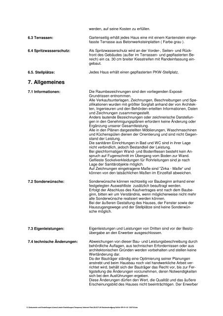 VK Baubeschreibung Solitär EFH 9 10 220710