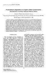 Photocatalytic Degradation of Organic Water Contaminants ...