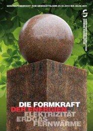 Der aktuelle Geschäftsbericht 2010/2011 - Stadtwerke Weimar