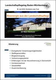 Bioenergie aus der Landschaftspflege - Baden-Württemberg