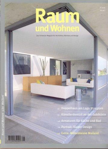 Das Schweizer Magazin für'A-rchitektwf, Wohnen und Design