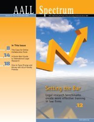 V.13 N.3 (December 2008) issue in - AALL
