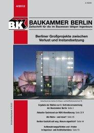 BK-Heft 4/2012 - Baukammer Berlin