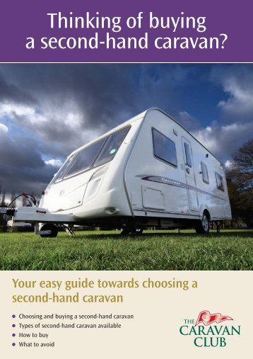 Thinking of buying a second-hand caravan? - The Caravan Club