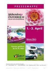Blühendes Österreich - Messe für Garten, Urlaub & Caravan – 1. – 3 ...