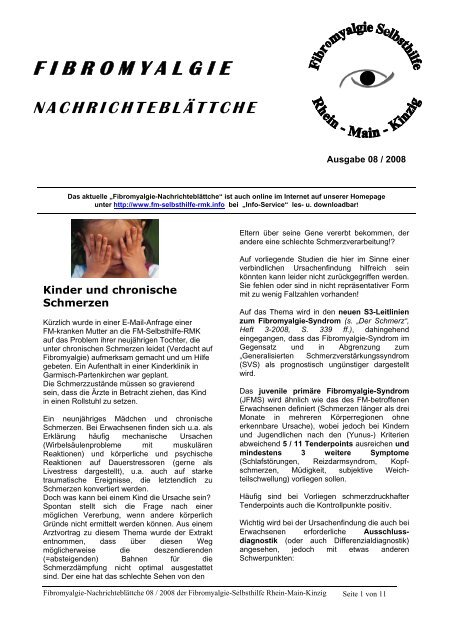 Fibromyalgie Rhein 08 Main Kinzig Selbsthilfe OPZuTXik
