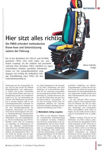 Hier sitzt alles richtig - QZ-online.de