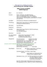 Wertungsturnier zu Oberbayerncup 2013 ... - EWU-Bayern eV