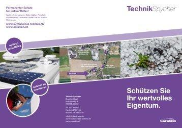 TechnikSpycher Schützen Sie Ihr wertvolles ... - skybusiness.ch