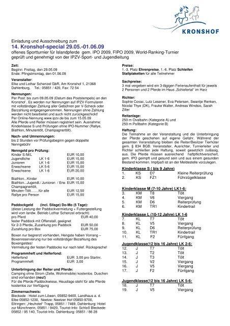 14. Kronshof-special 29.05.