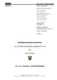 Schalltechnisches Gutachten - Stadt Aurich
