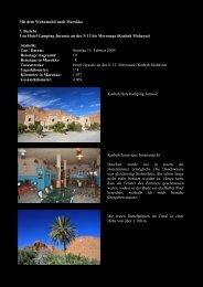 Mit dem Wohnmobil nach Marokko 7. Bericht Von Hotel Camping ...