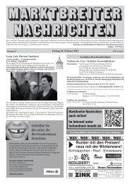 Marktbreiter Nachrichten vom 01.02.2013