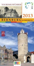 Tourismusführer 2013 - Bernburger Freizeit GmbH