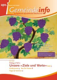 Unsere »Ziele und Werte«Seite 3 - APO Tackenberg