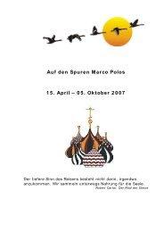 Auf den Spuren Marco Polos 15. April - hinterdemhorizont.com