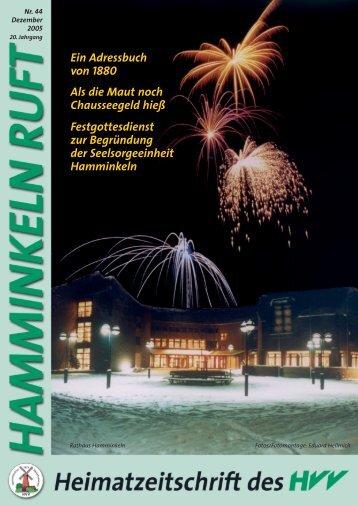 Inhalt Ausgabe 44: Inhalt Dezember 5.0, page ... - HVV Hamminkeln