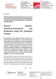 Genial digital: Amateurfunkmesse am Bodensee zeigt ... - Ham Radio